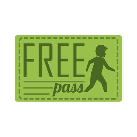 free pass coupon Illustration