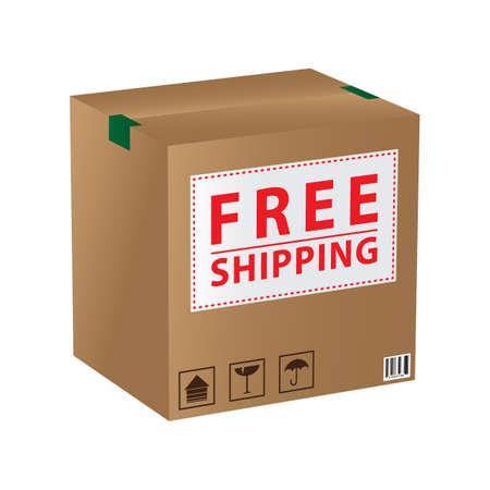 cardboard: cardboard box Illustration