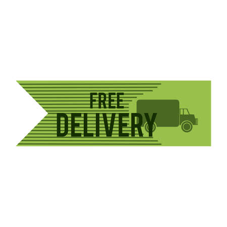 free delivery: free delivery label