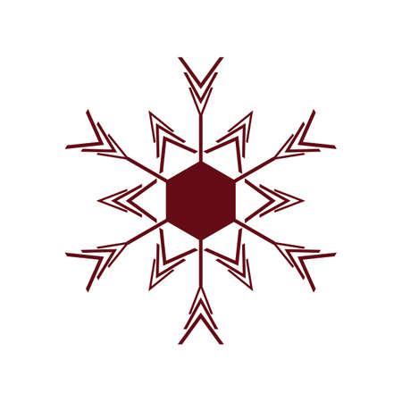 cold weather: snowflake Illustration