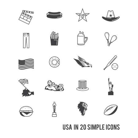 dough nut: set of usa icons Illustration