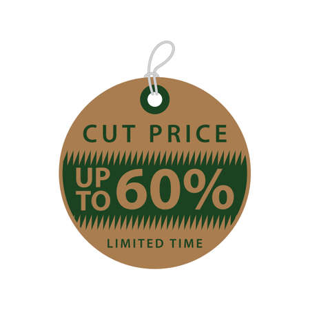 sixty: sixty percent off tag Illustration