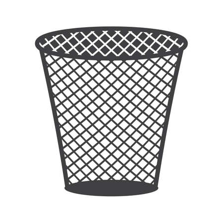 rubbish dump: dustbin Illustration