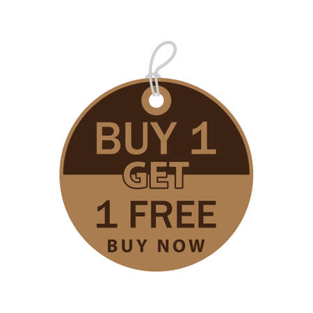 buy one: buy one get one free tag