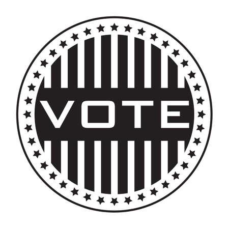 vote: vote sticker Illustration