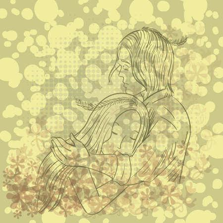 embracing: couple embracing
