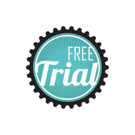 free trial emblem Vektorové ilustrace