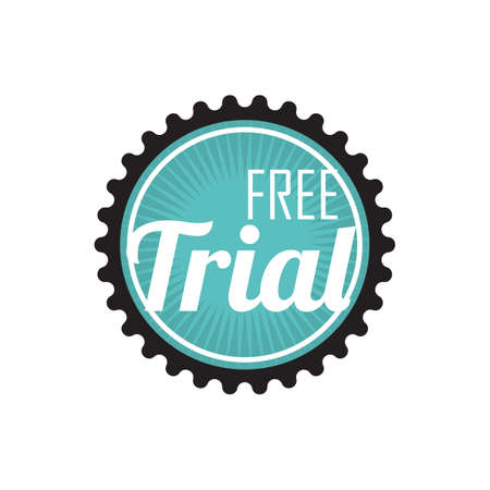 gratis trial embleem Vector Illustratie