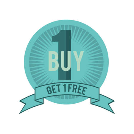 1: buy 1 free 1 label
