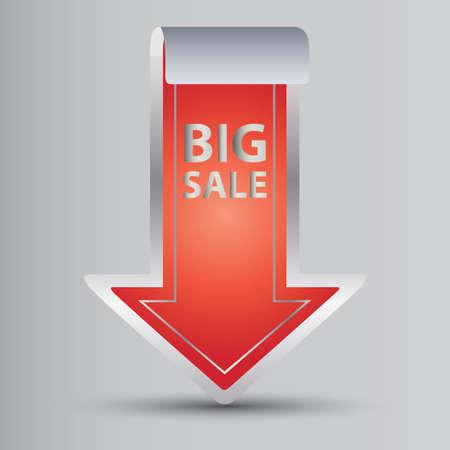 big sale: big sale label Illustration