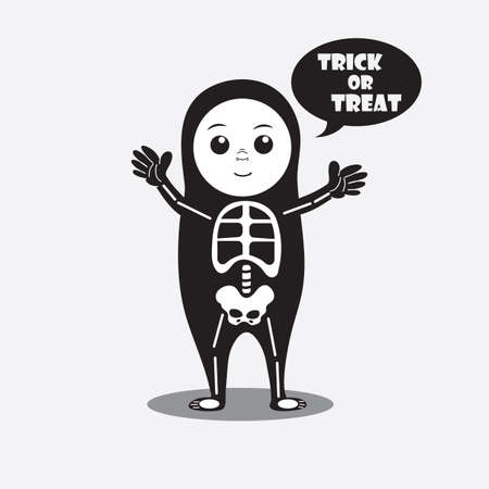 trick: person in a costume saying trick or treat