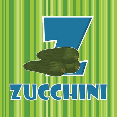 zucchini: z for zucchini Illustration
