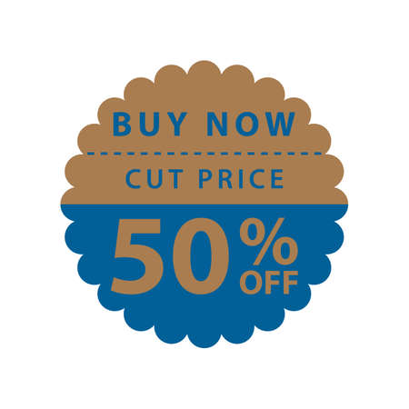 fifty: fifty percent off label