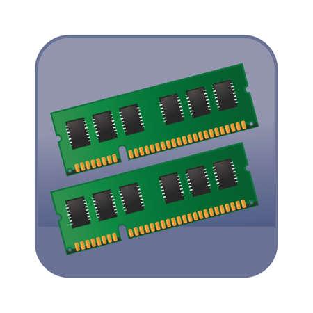 on computer: computer ram Illustration