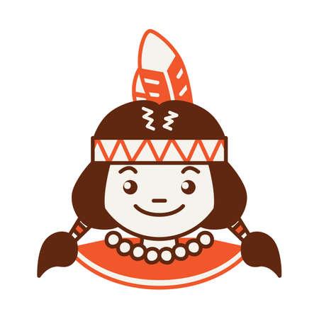 american: native american Illustration