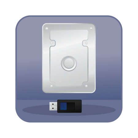hard: external hard disk and usb flash drive