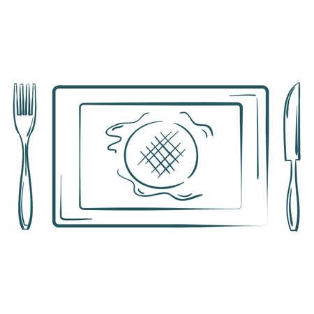 platter: burger platter Illustration