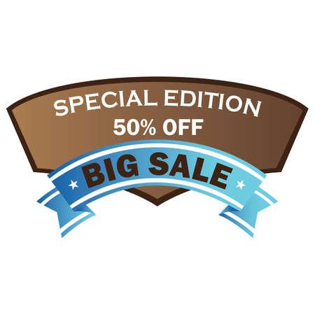 special edition: big sale label Illustration
