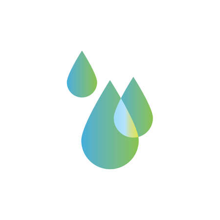 A water droplets illustration.
