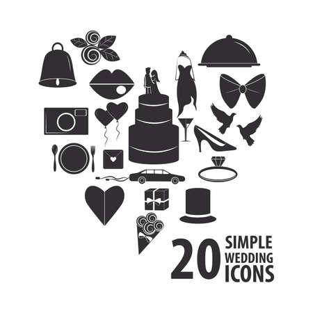snoop: set of wedding icons Illustration