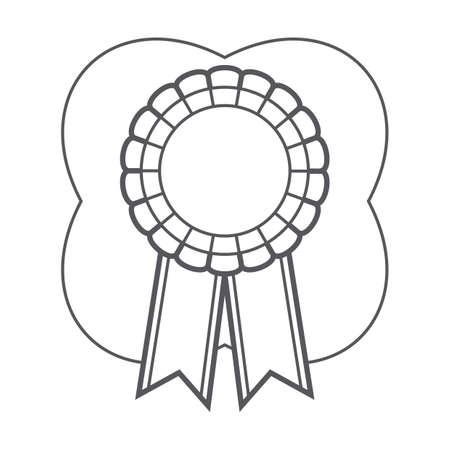 rosette: ribbon rosette