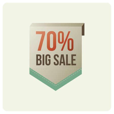 70: 70 percent big sale badge