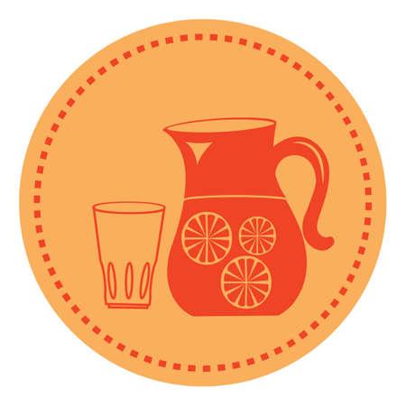 jug: jug and glass