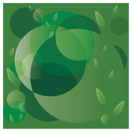 green background: green leaves background Illustration