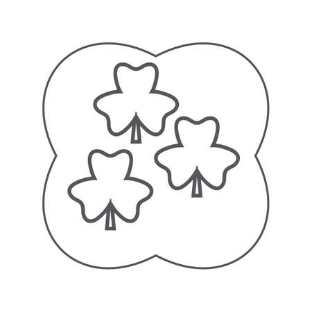 clovers: three-leaf clovers