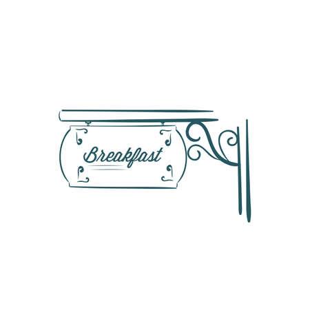 a signboard: breakfast signboard