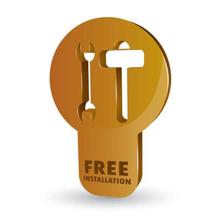 free installation service Banco de Imagens - 53746964