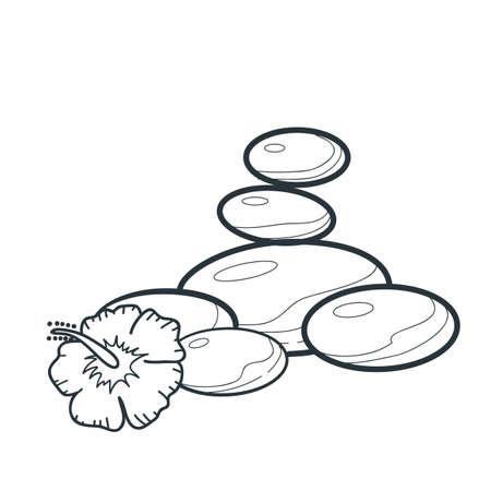 basalt: flower and basalt stone