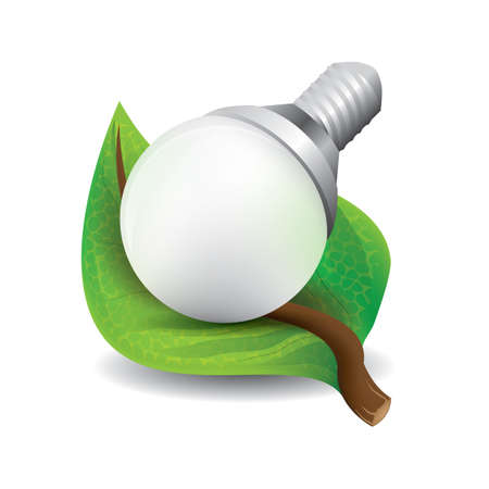 filament: leaf with bulb Illustration