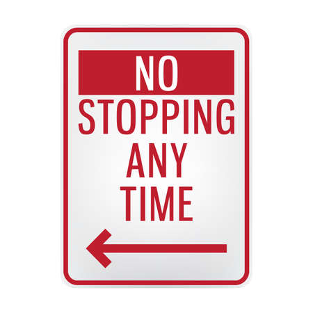 stopping: no stopping signboard