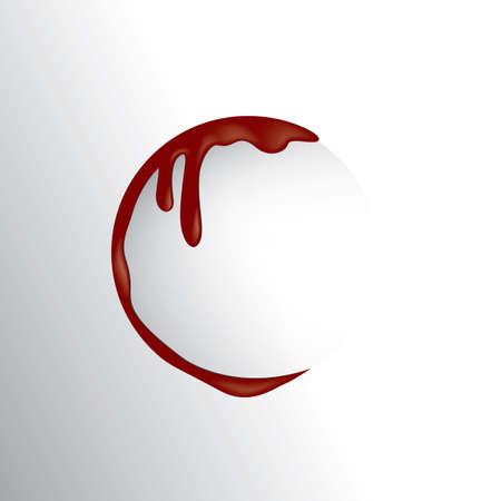 wound: semi circle blood wound