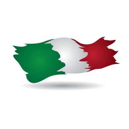 flag: italy flag Illustration
