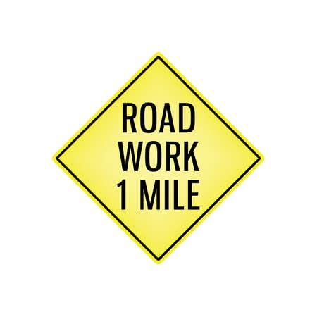 road work: road work signboard Illustration