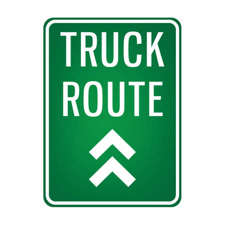 route: truck route signboard Illustration