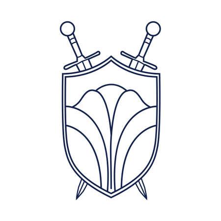 crossed swords: shield and crossed swords