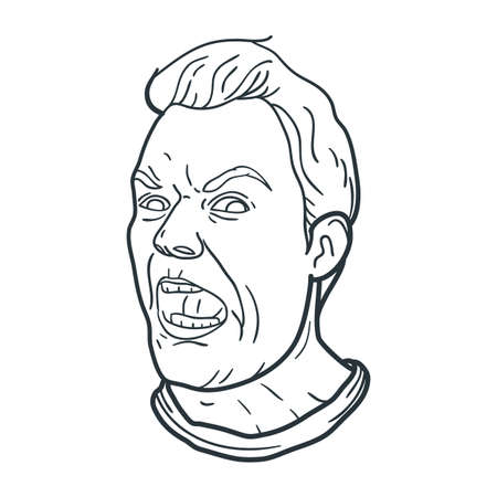 shouting: angry man shouting expression