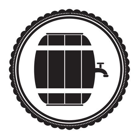 barrel: water barrel with tap Illustration