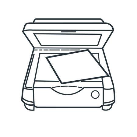 photocopier: photocopier Illustration