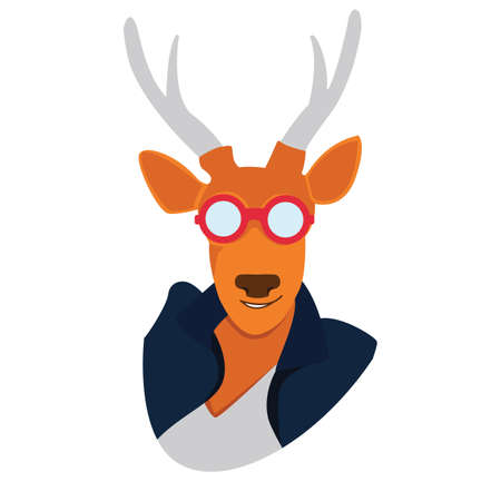 wearing spectacles: deer wearing spectacles