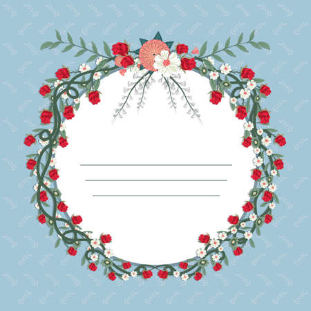 copyspace: floral frame with copyspace