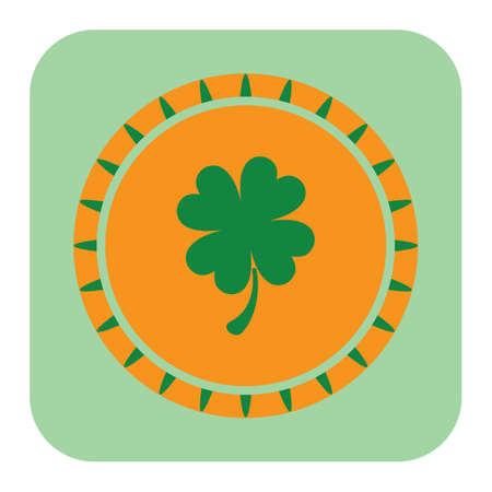and saint: saint patricks festival lucky coin Illustration