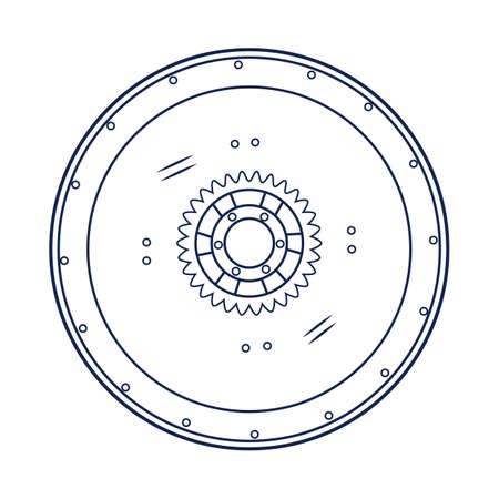 round: round shield Illustration