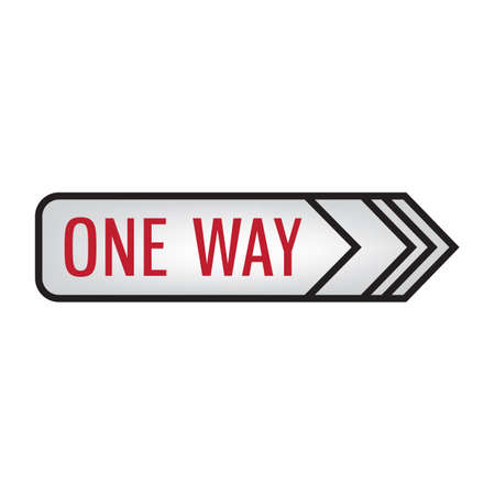 in a way: one way signboard Illustration