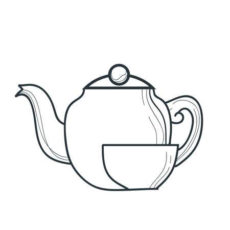 tea kettle: tea kettle and cup