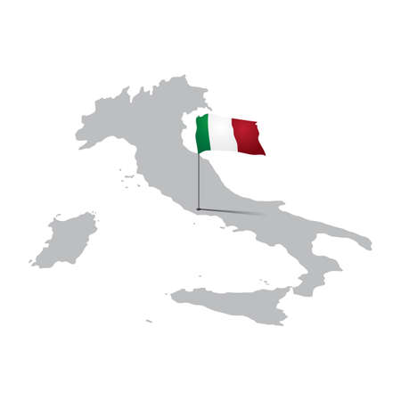 Italië kaart Stock Illustratie