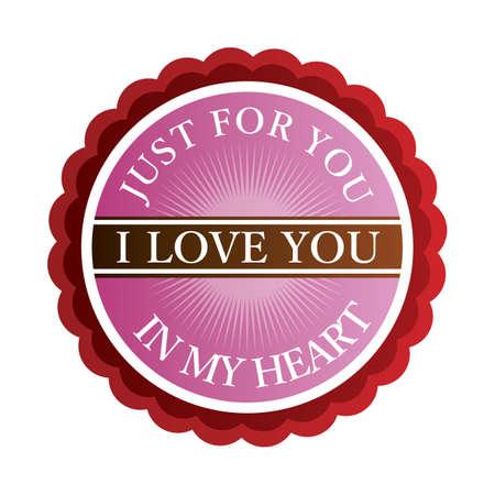 i label: i love you label
